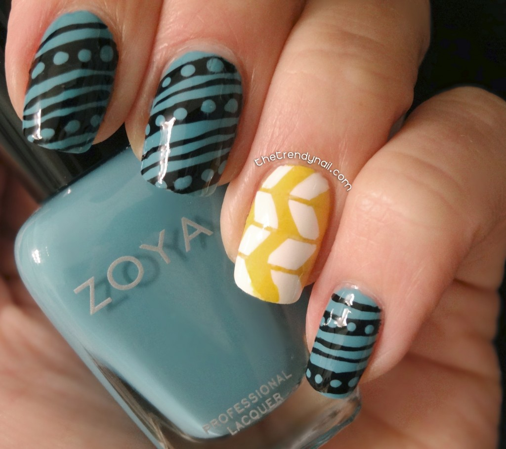 mara hoffman print inspired manicure   the trendy nail