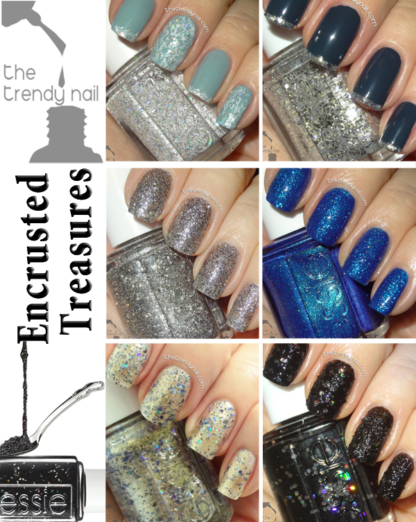 NAIL POLISH ALERT: Encrusted Treasures Collection by Essie - The Trendy Nail