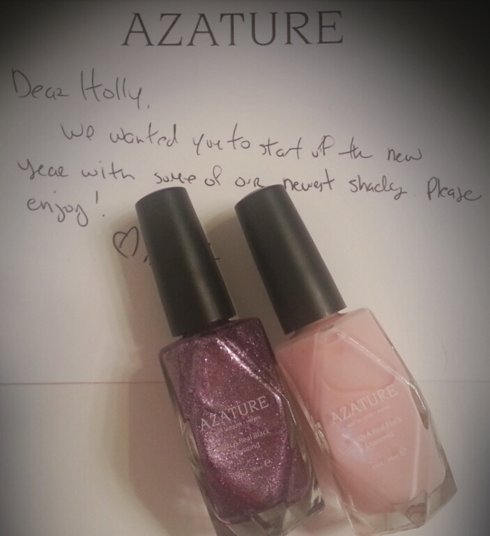 Azature Nude & Violet Diamond Polish