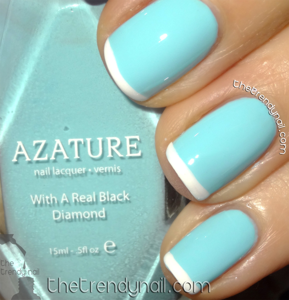 Light Blue - Faint White Tips - Azature