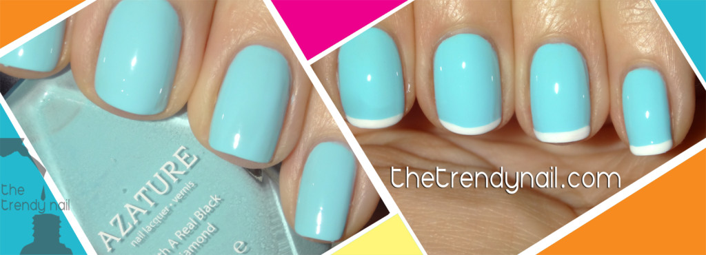 Light Blue Diamond Polish-Azature-the trendy nail