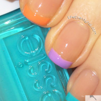 Im Addicted Bottle with Neon French As Seen on TheTrendyNail.com
