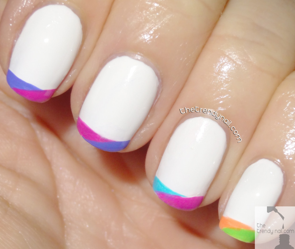 MANI MONDAY: PAINTING NEON FRENCH TIPS WITH ESSIE