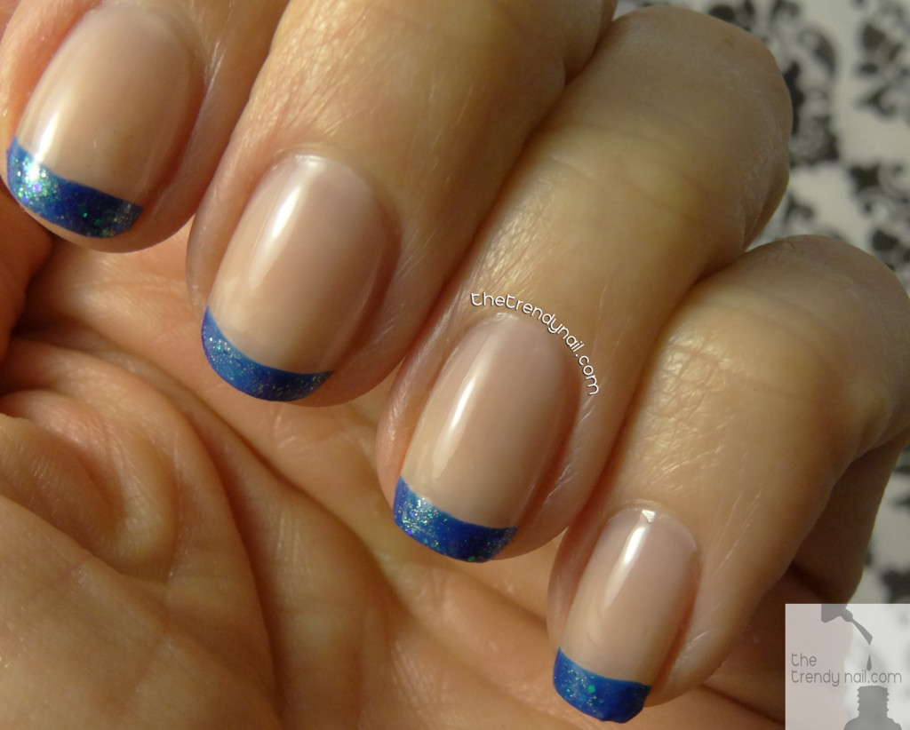 Blue French Manicure TheTrendyNai