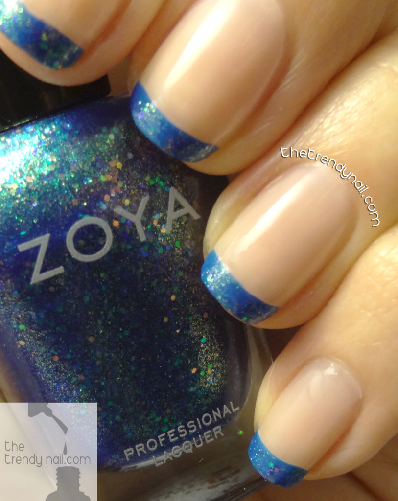 Zoya-Ling-Zoya-Muse-Azature-Blush- Blue French Manicure TheTrendyNail
