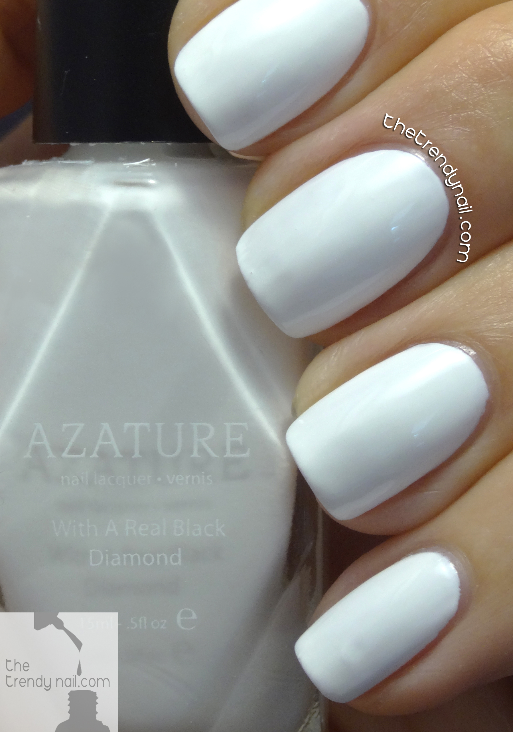 Trendy Nail Colors: NAILS REVEALED: AZATURE Faint White Swatches & Reviews