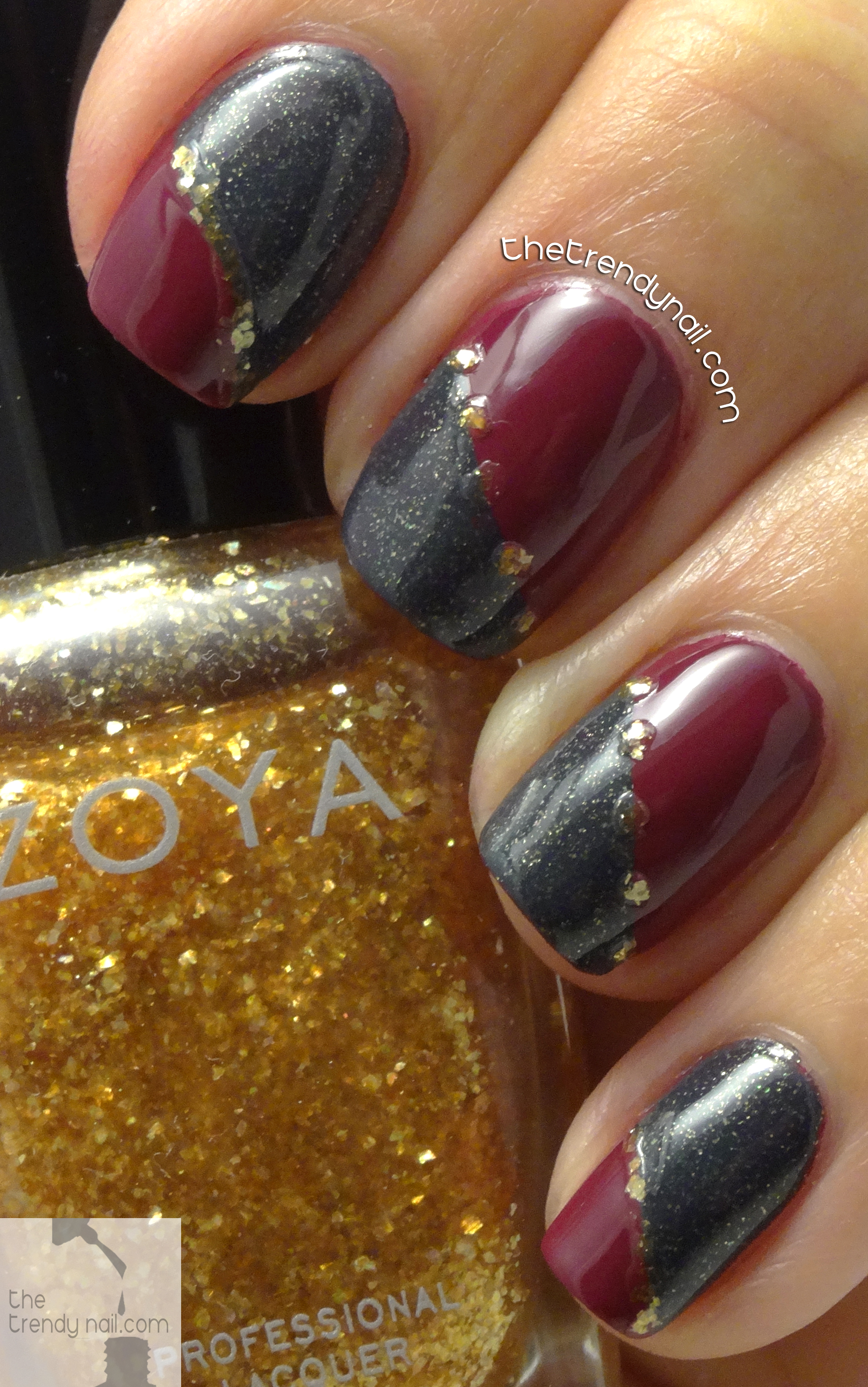 Nail art tutorial irregular fall french manicure prinsesfo Image collections
