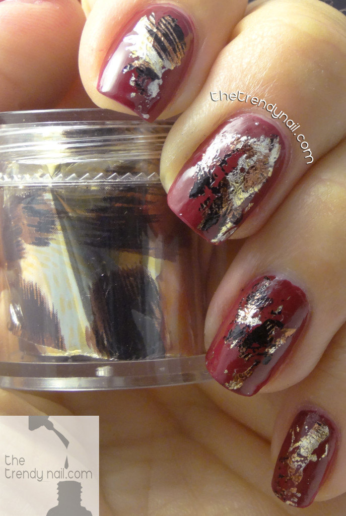 Nail art using foils--animal-print