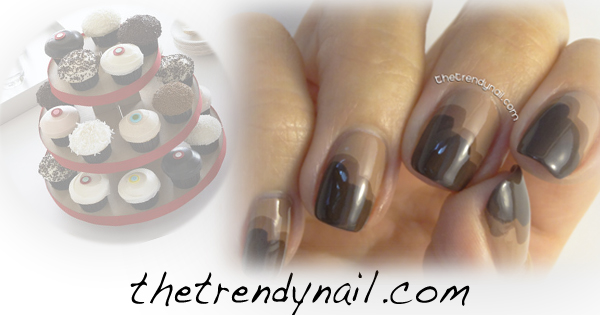 My Chocolate Cupcake Manicure