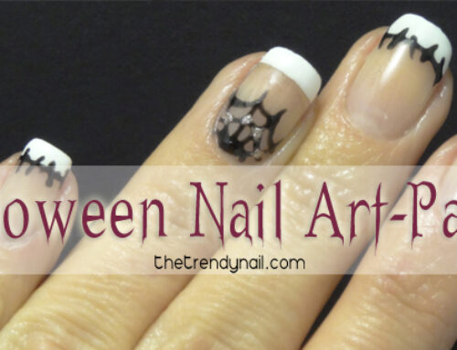 Frankenweb Halloween Nail Art Tutorial