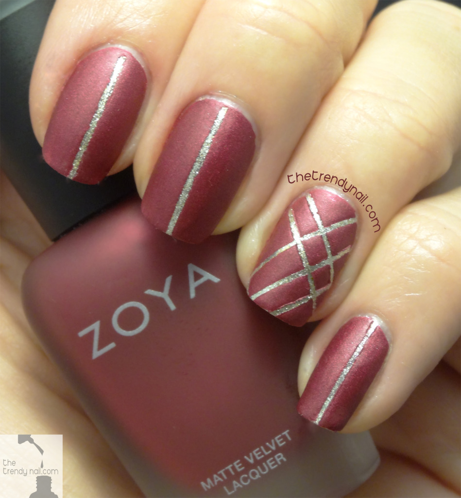 Holiday-Nail-Art- Matte Posh Zoya