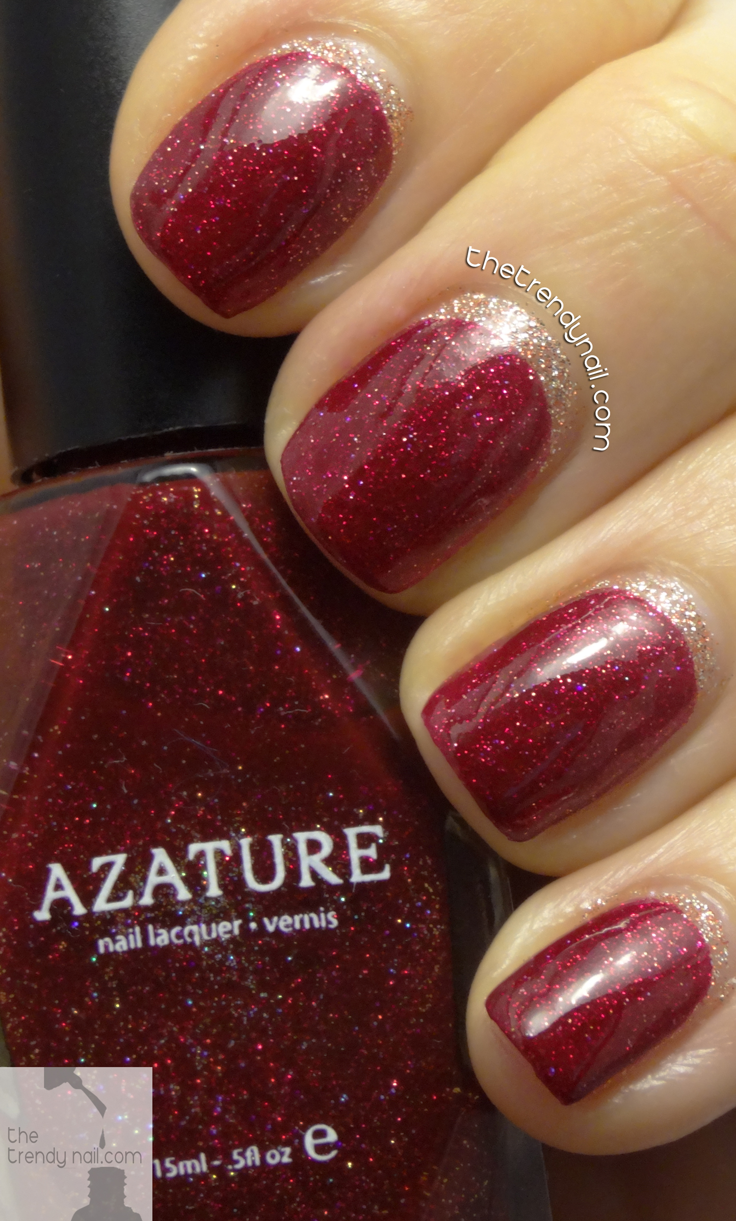 Azature-Red-NYE-Nail Art