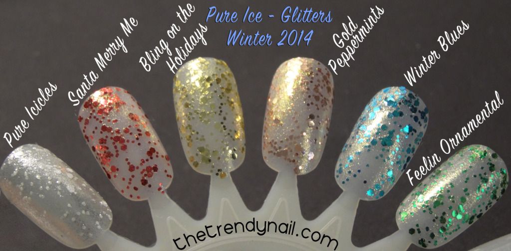 Pure Ice Bling on the holidays swatches