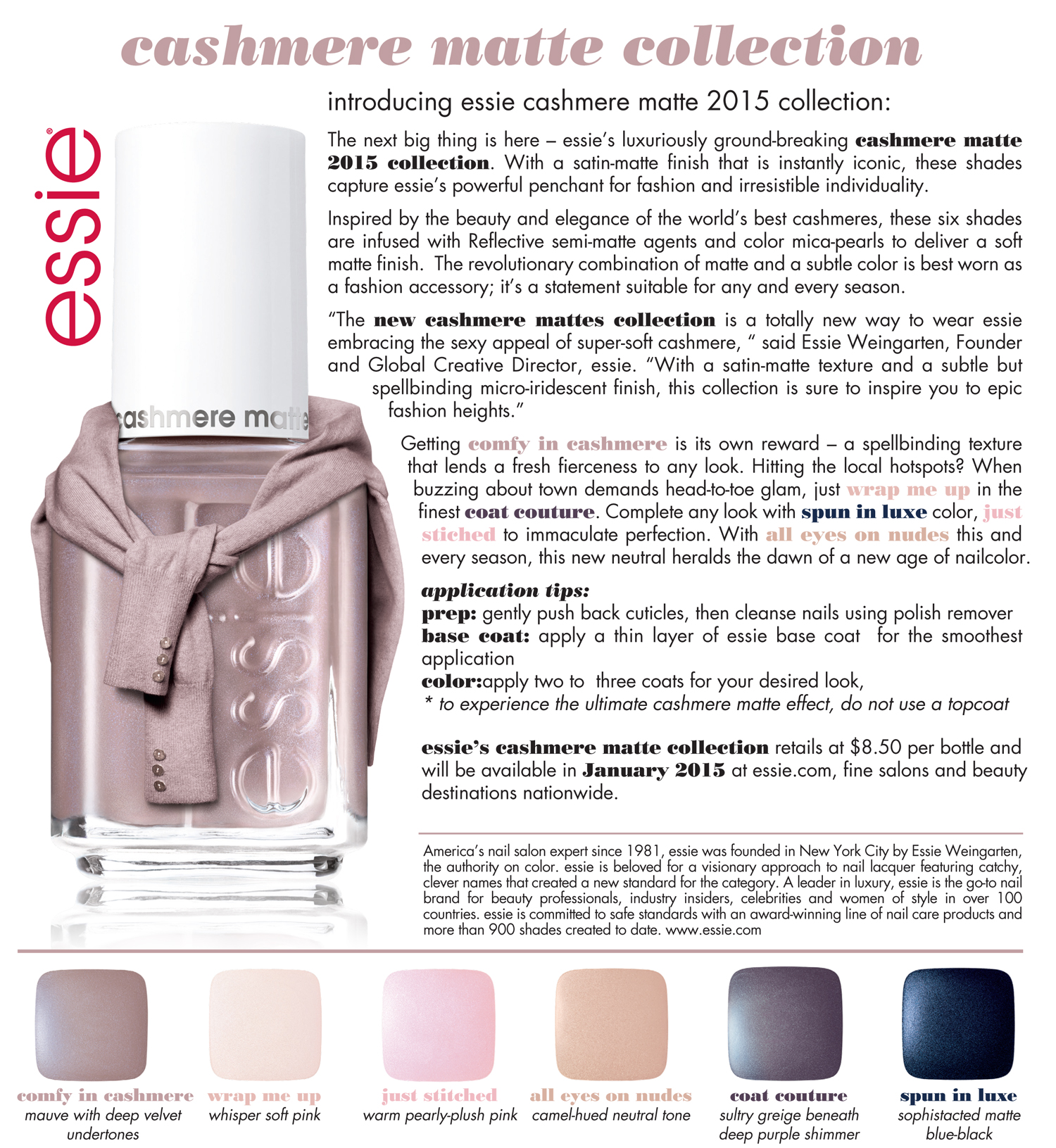 A CLOSER LOOK: ESSIE CASHMERE COLLECTION - The Trendy Nail