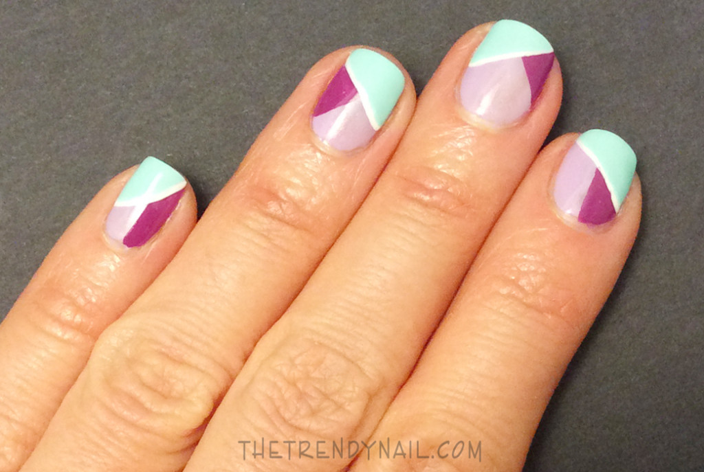 Step-4-Essie-Spring Color Blocking Nail Art