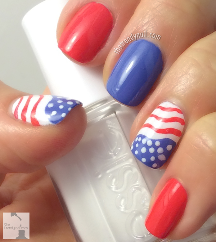 Patriotic Nails Paint It Red White Blue The Trendy Nail