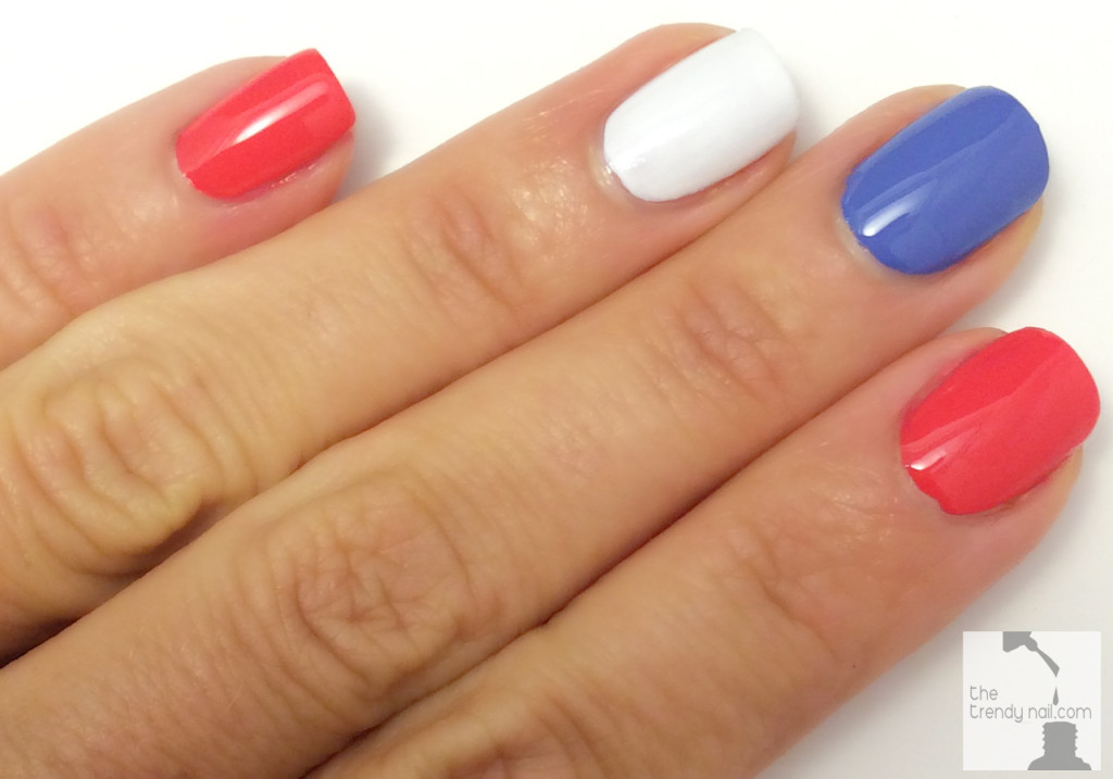 red whit & blue nails