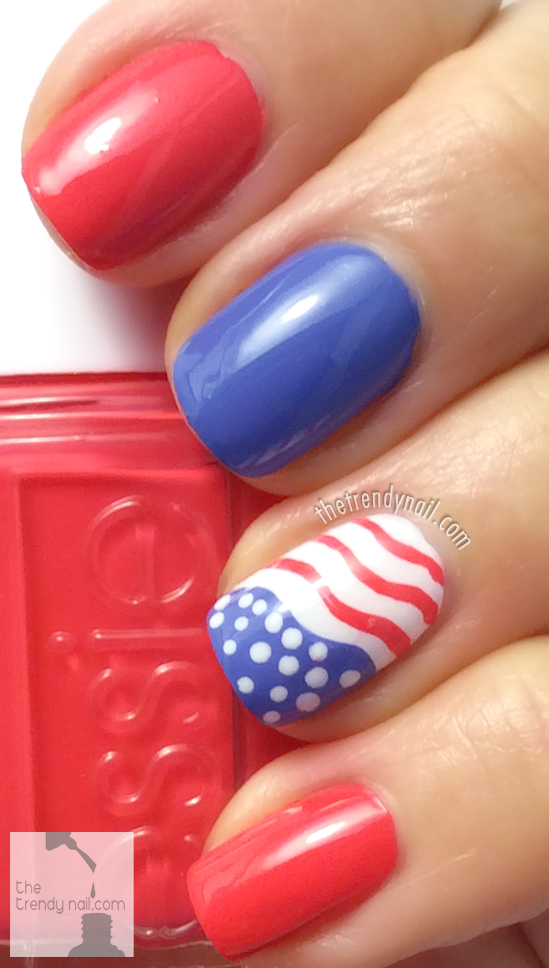 Sunset-Sneaks-Essie-July-4-Nails