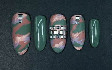 Camo For Fall Featuring New Dermelect Fall Nail Lacquers The