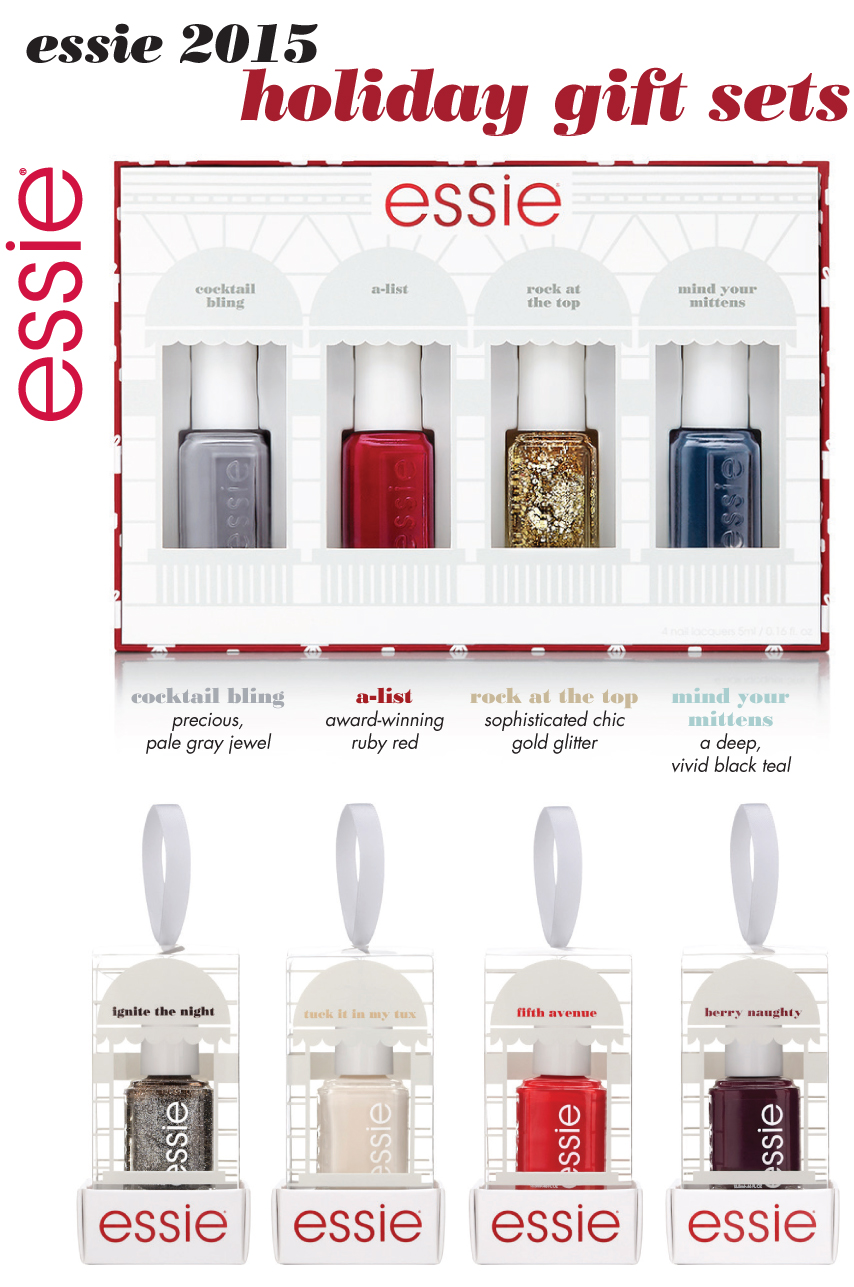 Beauty Buys: 2015 Essie Holiday Gift Sets - The Trendy Nail