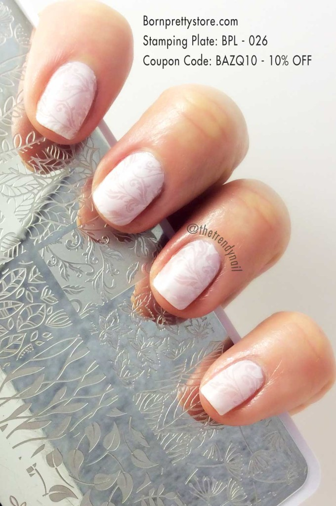 Nail stamping with essie - nail plate BPL - 026 - Bornprettystore.com