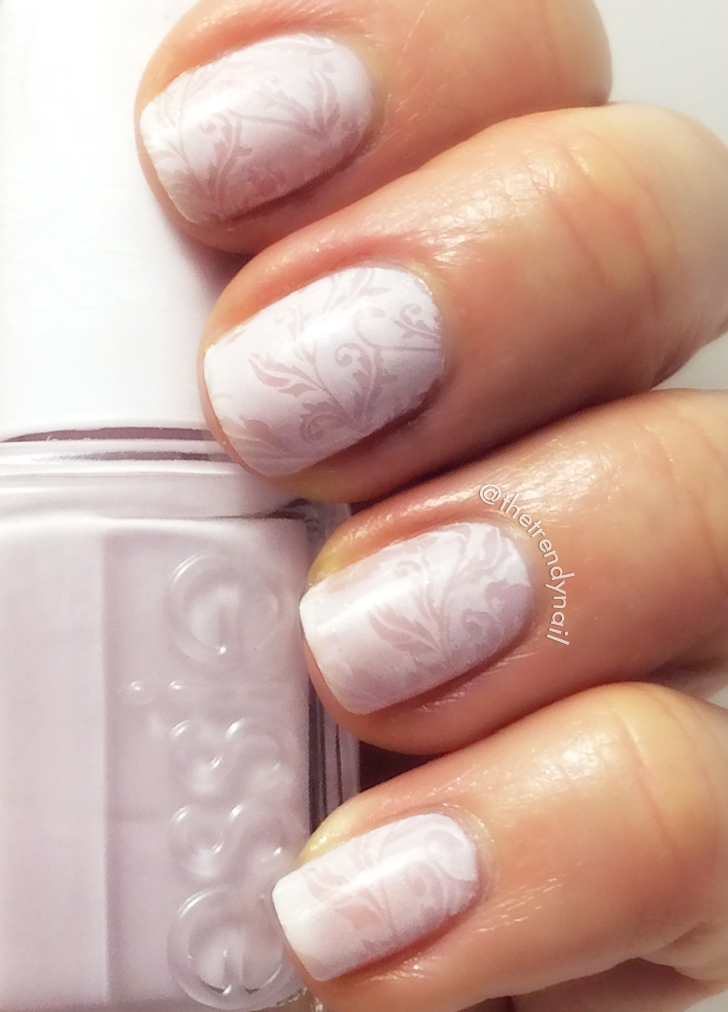 Nail stamping with Essie - hubby-for-dessert