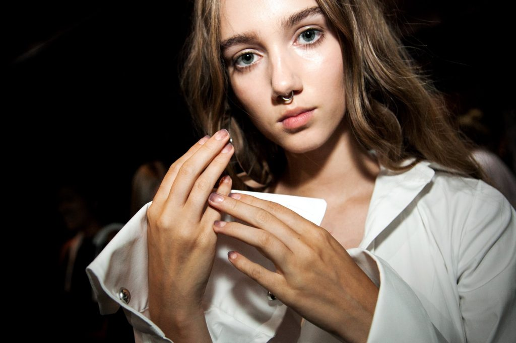 Sally Hansen at Monse SS17