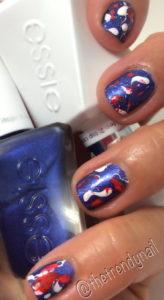 4th of july splatter nails
