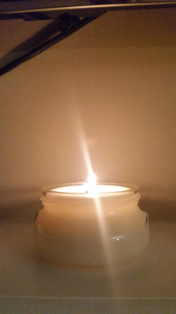 home made soy candle