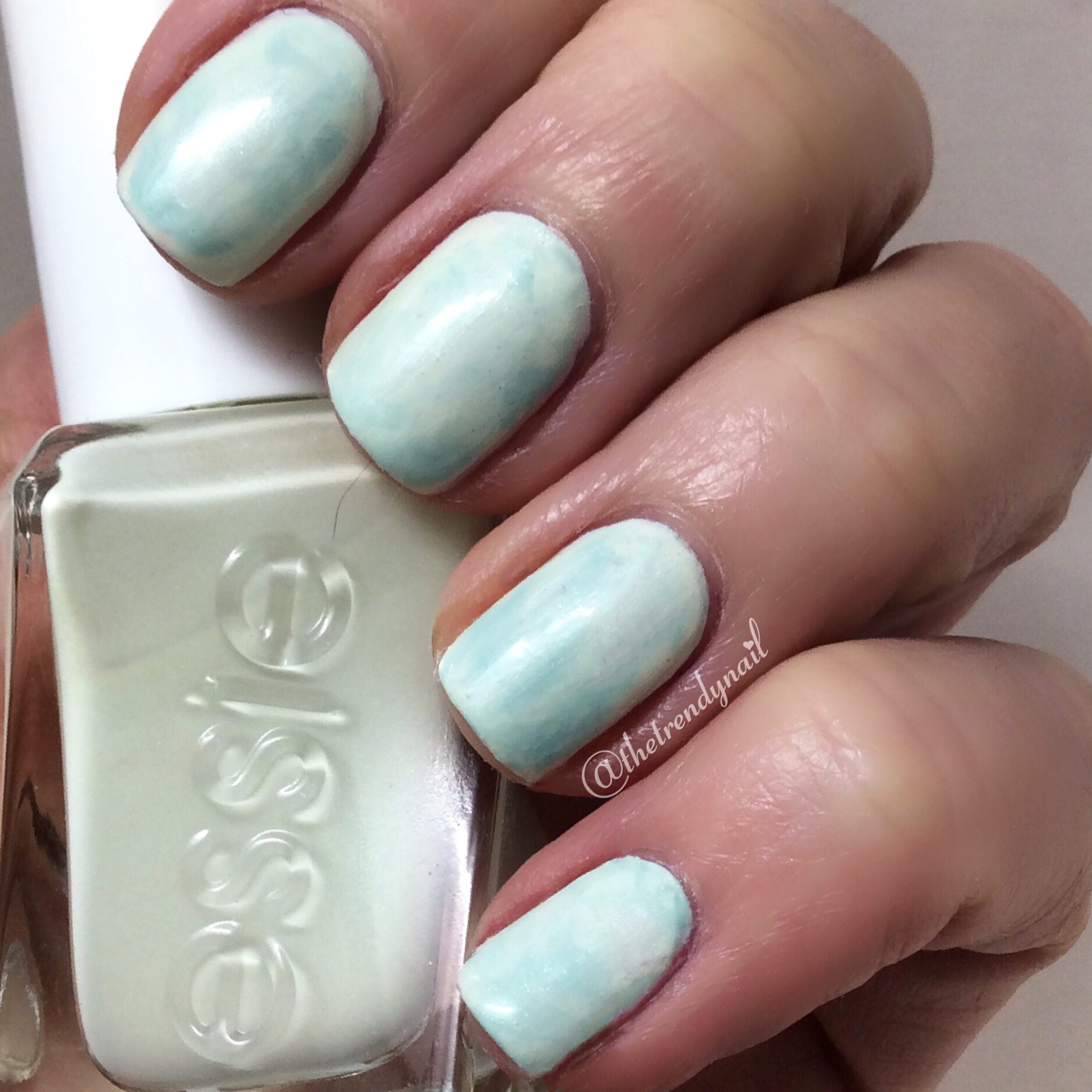 essie marble nails hack